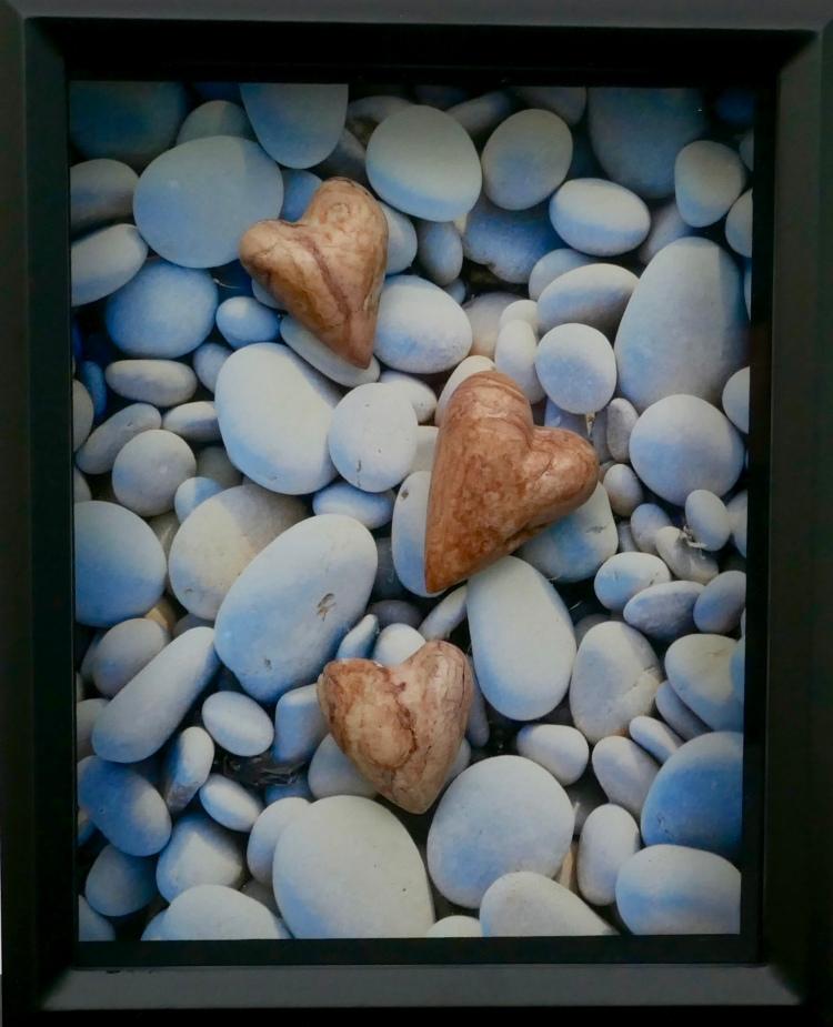 Alabaster pebble hearts