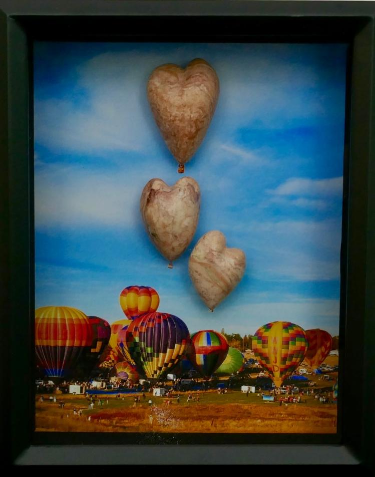 Alabaster balloon hearts