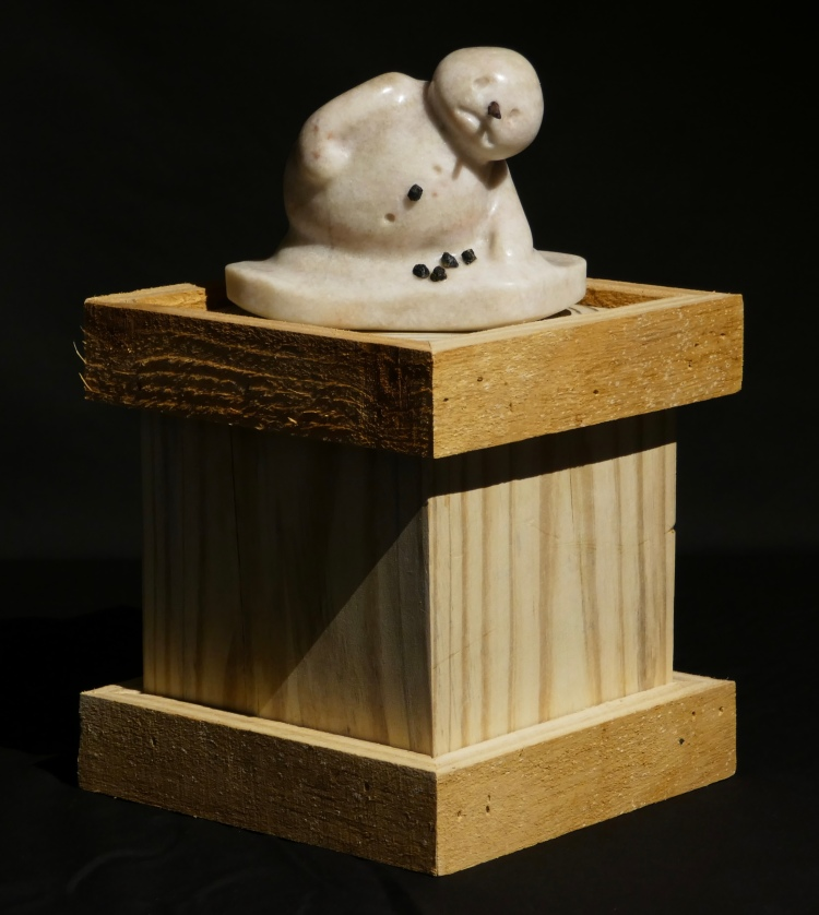 Alabaster melting snowman