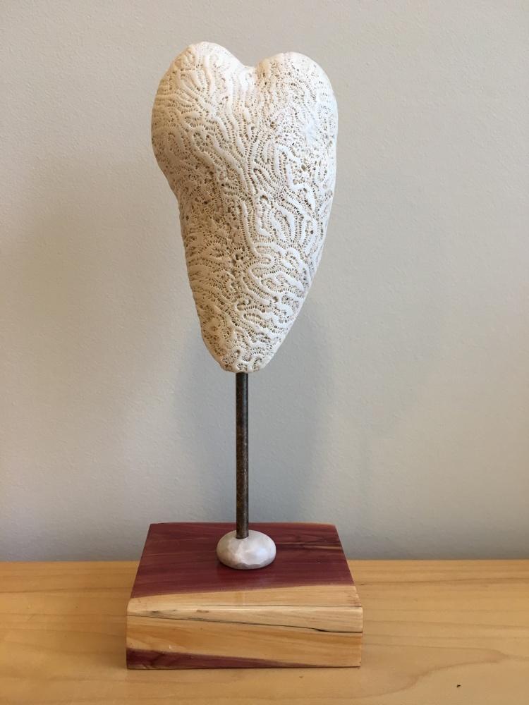 Coral pedestal heart